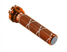 Apico gashendel buis aluminium gelagerd oranje voor de KTM SX 50 2012-2020 & SX 65 2002-2020 & Husqvarna TC 50/65 2017-2020