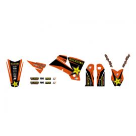 Blackbird Rockstar Energy sticker set voor de KTM SX 125/150/250 2001-2004 & SX-F 250/350/450 2001-2004 & EXC 250/300 2003-2004 & EXC-F 250/350/450/500 2003-2004
