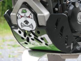 AXP blokbescherming GP zwart/groen voor de Kawasaki KX 450F 2009-2015