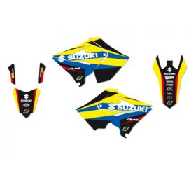 Blackbird Dream 4 sticker set Suzuki RM 125/250 2001-2008 ( past alleen op polisport restyle plastic kit )