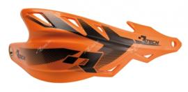 Rtech handkappen Raptor + montageset KTM oranje speciaal voor de Supermoto en Enduro