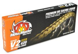 Moto Master ketting 420 V2 Goud 130 Links