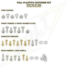 Bolt boutenset voor plastic werk voor de KTM EXC alle modellen 2004-2007