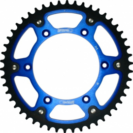 Supersprox achtertandwiel stealth met blauwe binnenring voor de Yamaha