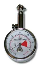 Bihr bandendrukmeter analoog naald 0-4 bar