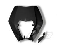 UFO koplamp plastic zwart voor KTM EXC 125/200/250/300 2009-2011 & EXC-F 250/350/450/530 2009-2011 & EXC-F 500 2011