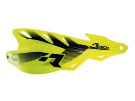 Rtech handkappen Raptor + montageset fluor geel speciaal voor de Supermoto en Enduro