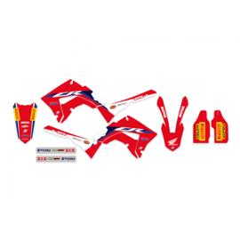 Blackbird Replica Team Honda HRC 2020/2021 sticker set Honda CR 125R/250R 2002-2007 ( Past alleen op CR Polisport restyle kit )