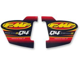 FMF demper sticker voor FMF Q 4 HEX uitlaat demper