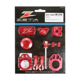 Zeta Billet Kit Rood Honda CRF 450R 2017-2020 & CRF 450RX 2017-2020