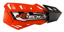 Rtech handkappen FLX neon oranje + bevestiging set