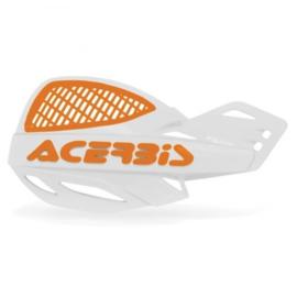 Acerbis handkappen MX Vented Uniko wit/oranje