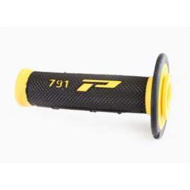 Progrip handvaten cross soft touch 791 geel/zwart