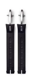 SIDI strap zwart voor stone buckle long zwart/zilver ( per 2 )