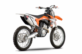 Yoshimura Compleet uitlaat systeem RS4 rvs demper / carbon eindkap KTM SX-F 450 2012-2015
