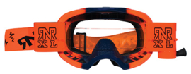 RNR crossbril Colossus fluor oranje/blauw + roll off XL