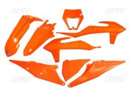 UFO Plastic Kit Oranje kleur KTM EXC 250 TPI / EXC 300 TPI 2020-2021 & EXC-F 250/350/450/500 2020-2021