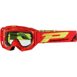 Progrip 3303 Vista crossbril rood met blanke lens