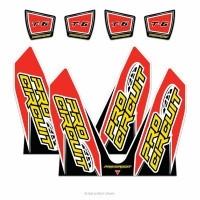 Pro Circuit dempersticker voor de T-6 uitlaten voor Honda CRF250R/450R 14 ( dual systemen)