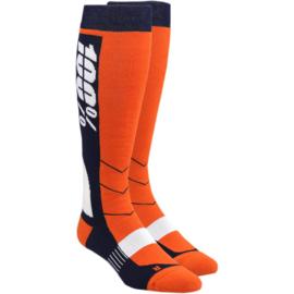 100% cross sokken Hi-Side Oranje