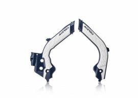 Acerbis X-Grip Framebeschermers + Grip wit/blauw Husqvarna TC/FC 125/250/350/450 2019
