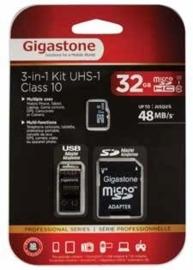 Gigastone micro SD kaart 32GB met adapter