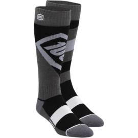 100% cross sokken Torque Zwart