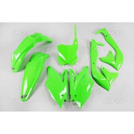 UFO plastic kit fluor groen Kawasaki KX 450F 2018