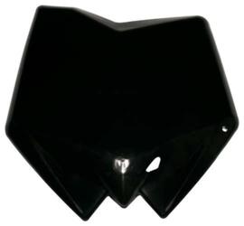 Racetech voornummerplaat zwart Husqvarna CR 125/250 2006-2013 & TC 250 2005-2013 & TC 450/510 2005-2010 & SMR 450/510 2005-2010