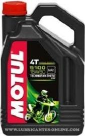 Motul synthetische 4 takt olie 5100 15W-50 4 liter