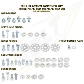 Bolt boutenset voor plastic werk voor de Suzuki RMZ 250 2010-2018 & RMZ 450 2008-2017