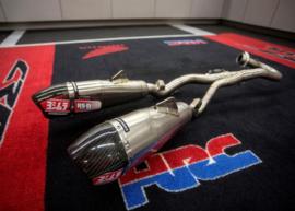Yoshimura USA RS-9T Full Throttle uitlaat systeem Titanium/Titanium demper voor de Honda CRF450R/RX 2017-2018