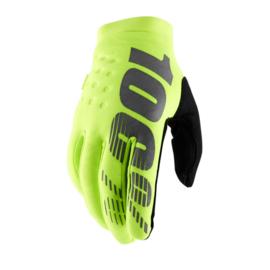 100% koud weer handschoenen Brisker fluor geel