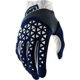100% handschoenen Airmatic Donker Blauw / Wit