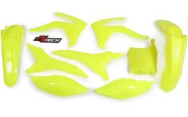 Rtech plastic kit Fluor geel voor de CRF 250R 2014-2017 & CRF 450R 2013-2016