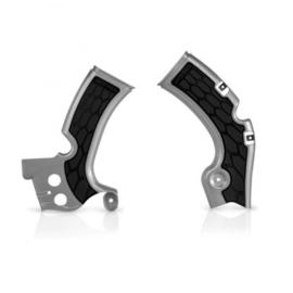 Acerbis X-Grip Framebeschermers + Grip zilver voor de Kawasaki KX 450F 2009-2017