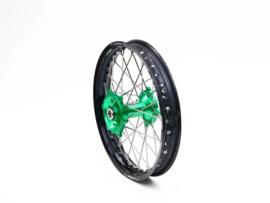 REX Wheels 19-2.15 compleet achterwiel zwarte velg met groene naaf 25MM Kawasaki KX 250 2006-2008 & KX 450F 2006-2019