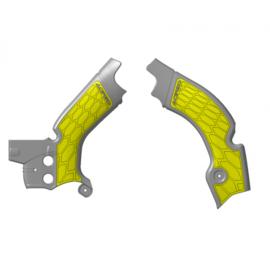 Acerbis X-Grip Frame beschermers + Grip grijs/geel voor de Suzuki RMZ 450 2018