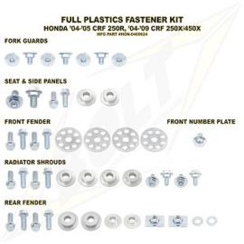 Bolt boutenset voor plastic werk voor de Honda CRF 250R 2004-2005 & CRF 250X/450X 2004-2015