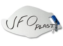UFO aanwijsbord wit