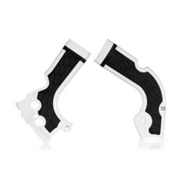 Acerbis X-Grip Framebeschermers + Grip wit/zwart voor de Honda CRF 250R 2014-2017 & CRF 450R 2013-2016