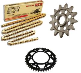 Ketting/Tandwiel kit bestaande uit Supersprox voor Supersprox achter staal ketting DID 520ERT3 gold