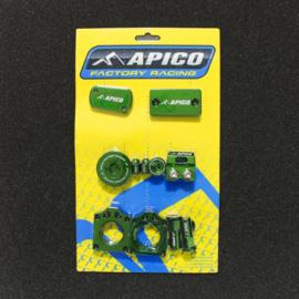 Apico Bling bling pack groen Kawasaki KX 250F 2011-2018 & KX 450F 2009-2018