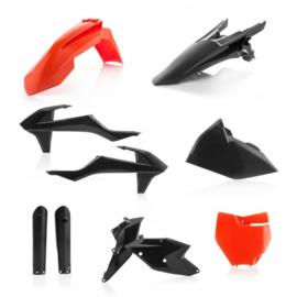 Acerbis zwart/oranje plastic kit KTM SX 125/150 2016-2018 & SX 250 2017-2018 & SX-F 250/350/450 2016-2018