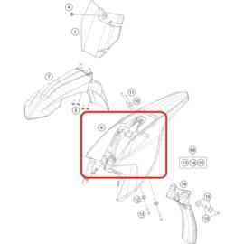 KTM OEM achterspatbord wit KTM SX 50 2016-2019
