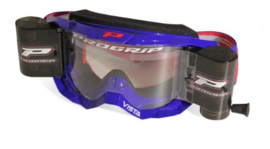 Progrip 3303 Vista crossbril blauw met blanke lens + roll off set XL