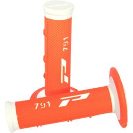 Pro grip handvaten 791 cross soft touch wit / fluor oranje