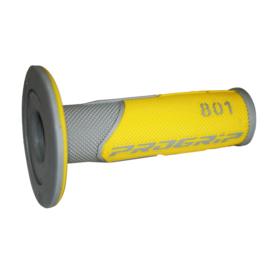 Pro Grip 801 handvaten grijs/geel