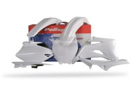 Polisport plastic kit wit voor de YZ 250F/450F 2006-2009