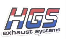 HGS dempersticker voor HGS 2 takt uitlaat dempers